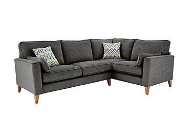 Copenhagen Fabric Corner Sofa in Graceland Graphite Lgt Ft Col2 on Furniture Village