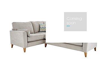 Copenhagen Fabric Corner Sofa in Graceland Silver Light Ft Col2 on Furniture Village
