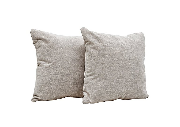 Copenhagen Pair of Scatter Cushions in Graceland Silver Scatts Only on Furniture Village