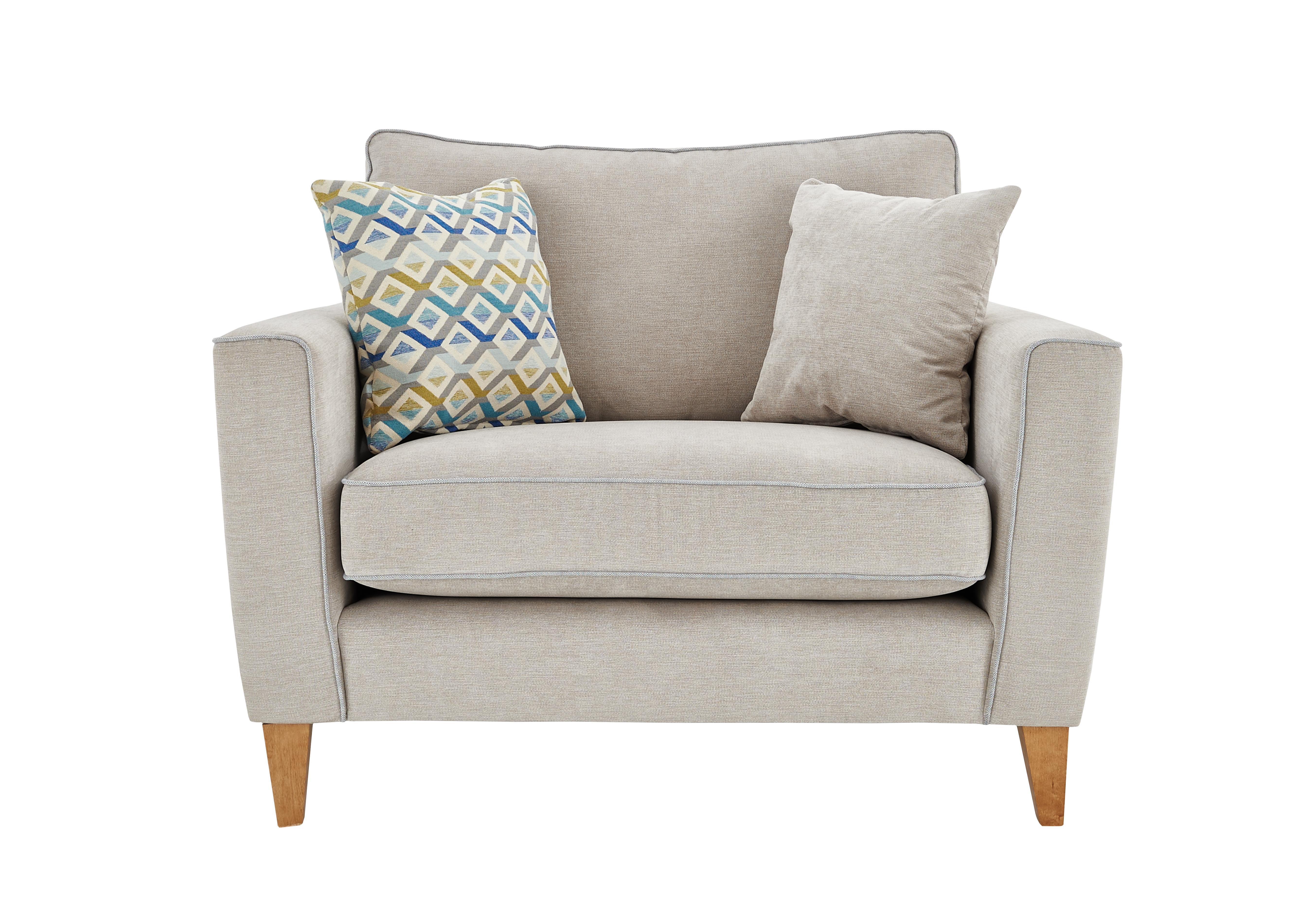 Attirant Copenhagen Fabric Snuggler Armchair
