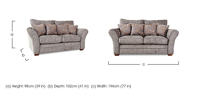 Hampstead 2 Seater Fabric Pillow Back Sofa in  on Furniture Village