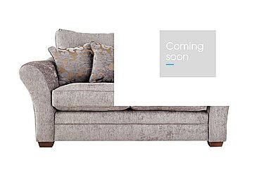 Hampstead 2 Seater Fabric Pillow Back Sofa in Ollie Ash Dark Feet Col 3 on Furniture Village