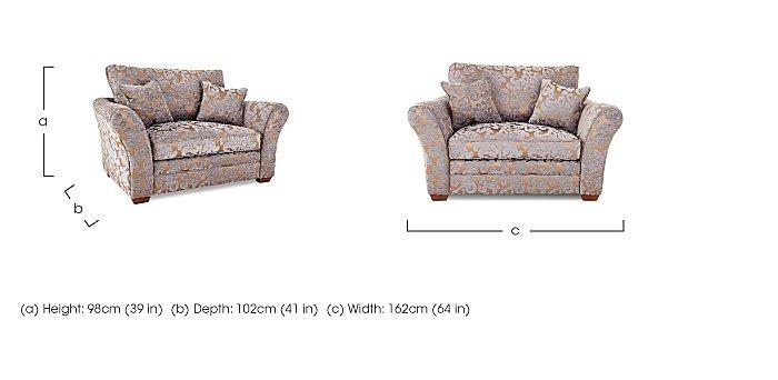 Hampstead Fabric Love Seat in  on Furniture Village