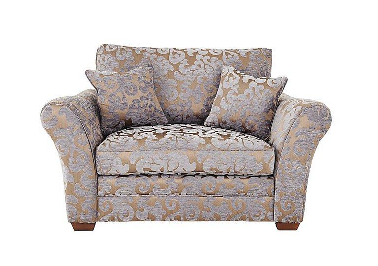 Hampstead Fabric Love Seat in Maddy Lavender Dark Feet Col 3 on Furniture Village