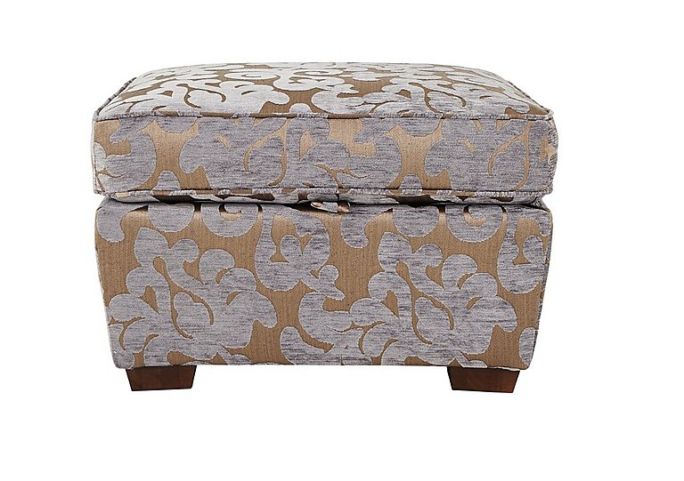 Hampstead Fabric Storage Footstool in Maddy Lavender on Furniture Village