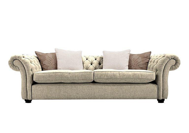 Langham Place 3 Seater Fabric Sofa in Lotus Sand  Dark Feet Col 1 on Furniture Village