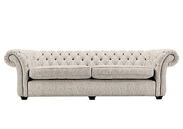 Langham Place 4 Seater Fabric Sofa in Buxton Platinum Dk Ft Col1 on Furniture Village