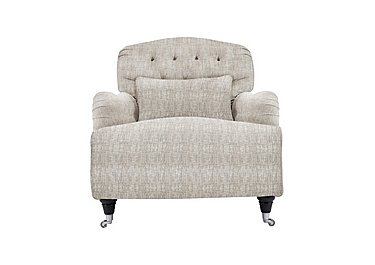 Langham Place Fabric Armchair in Buxton Platinum Dk Ft Col1 on Furniture Village