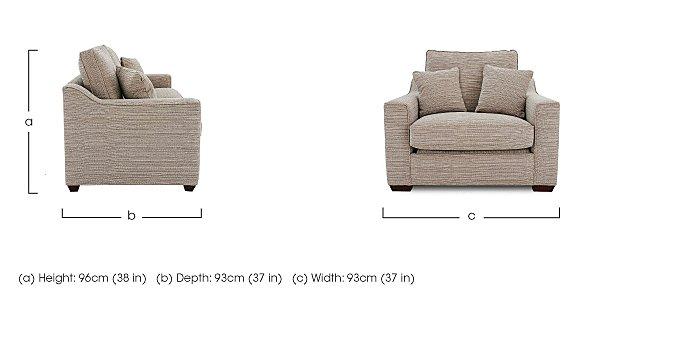 Las Vegas Fabric Armchair in  on Furniture Village