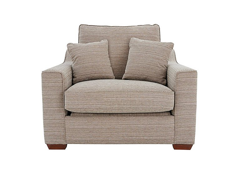Las Vegas Fabric Armchair in Russon Pebble - Light Ft Col 2 on Furniture Village