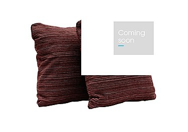 Las Vegas Pair of Scatter Cushions in Russon Crimson - Scatters on Furniture Village