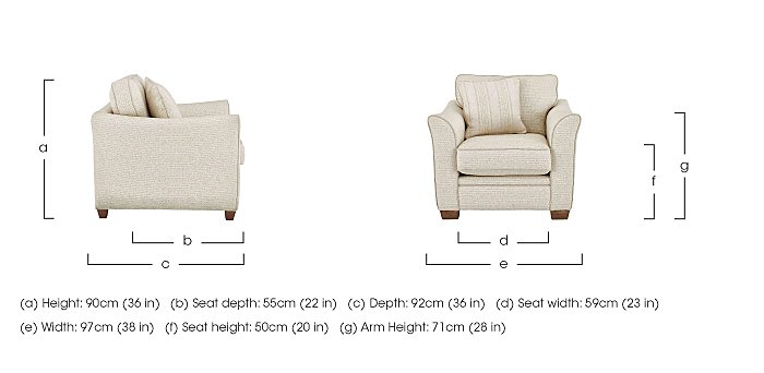 Esther Fabric Armchair in  on Furniture Village