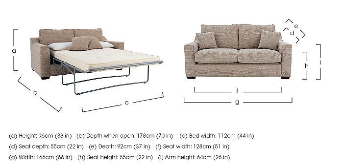 Las Vegas 2 Seater Fabric Sofa Bed in  on Furniture Village