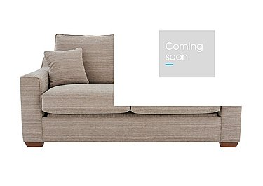 Las Vegas 2 Seater Fabric Sofa Bed in Russon Pebble - Light Ft Col 2 on Furniture Village