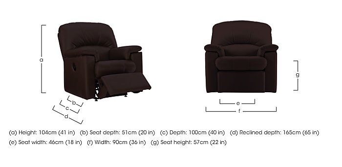 Chloe Leather Recliner Armchair in  on Furniture Village