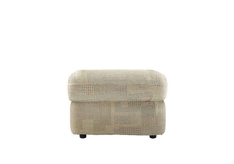 Chloe Fabric Footstool in B431 Lydia Linen on Furniture Village