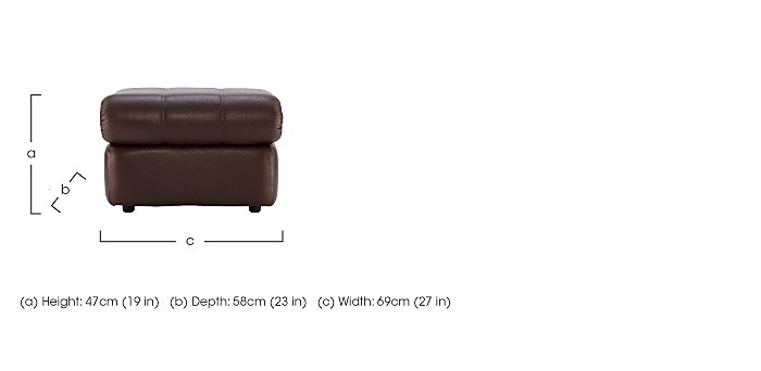 Chloe Leather Footstool in  on Furniture Village