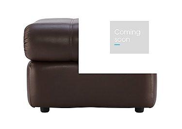 Chloe Leather Footstool in P200 Capri Chocolate on Furniture Village