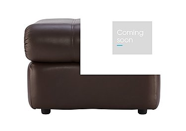 Chloe Leather Footstool in P200 Capri Chocolate on Furniture Village