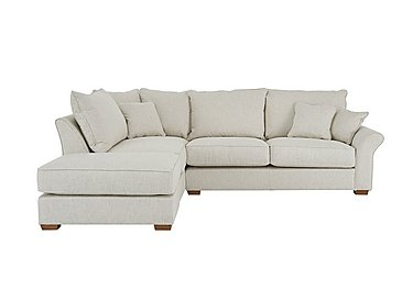 Carnaby Corner Chaise with Footstool in Huntch Ivory on Furniture Village