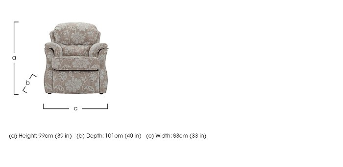 Florence Fabric Recliner Armchair in  on Furniture Village
