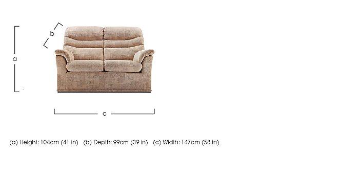 Malvern 2 Seater Fabric Recliner Sofa in  on Furniture Village