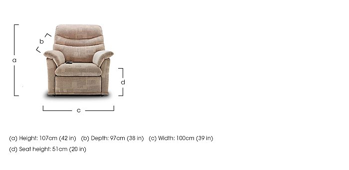 Malvern Fabric Lift and Rise Chair in  on Furniture Village