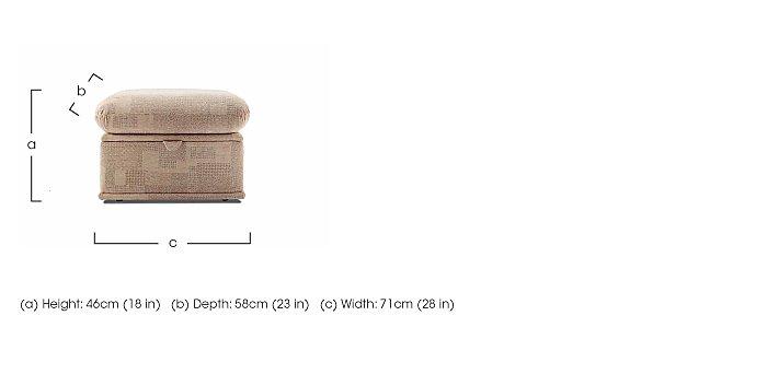 Malvern Fabric Storage Footstool in  on Furniture Village