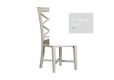 Arles Painted Dining Chair in Off-White With Script Seat on Furniture Village