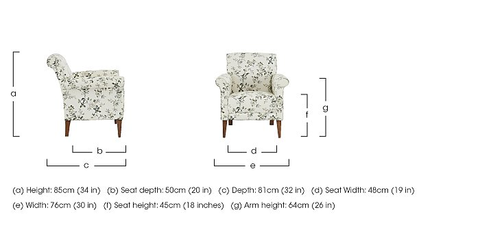 Diversity Fabric Accent Armchair in  on Furniture Village