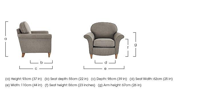 Diversity Fabric Armchair in  on Furniture Village