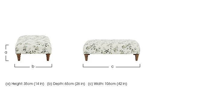 Diversity Fabric Footstool in  on Furniture Village