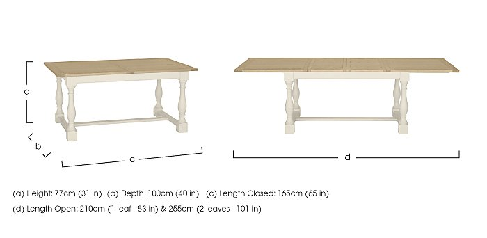 Pierre Extending Dining Table in  on Furniture Village