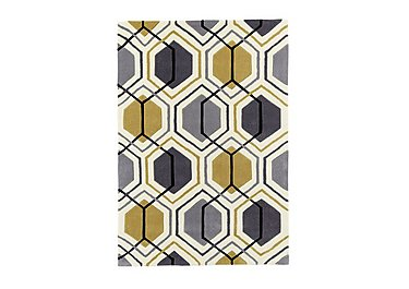 Georgia Rug in Yellow on Furniture Village
