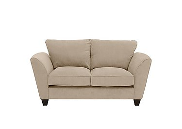 Tangier 2 Seater Fabric Sofa in Grace Linen - Dark Feet on Furniture Village