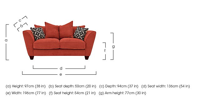 Tangier 2 Seater Fabric Pillow Back Sofa in  on Furniture Village