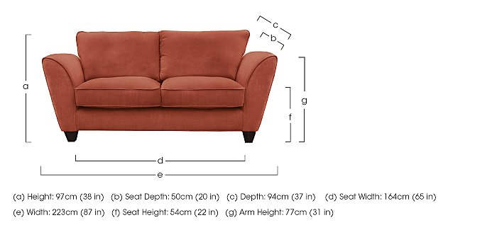 Tangier 3 Seater Fabric Sofa in  on Furniture Village