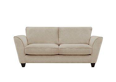 Tangier 3 Seater Fabric Sofa in Grace Linen - Dark Feet on Furniture Village