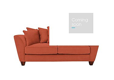 Tangier 3 Seater Fabric Pillow Back Sofa in Cosmo Spice - Dark Feet on Furniture Village