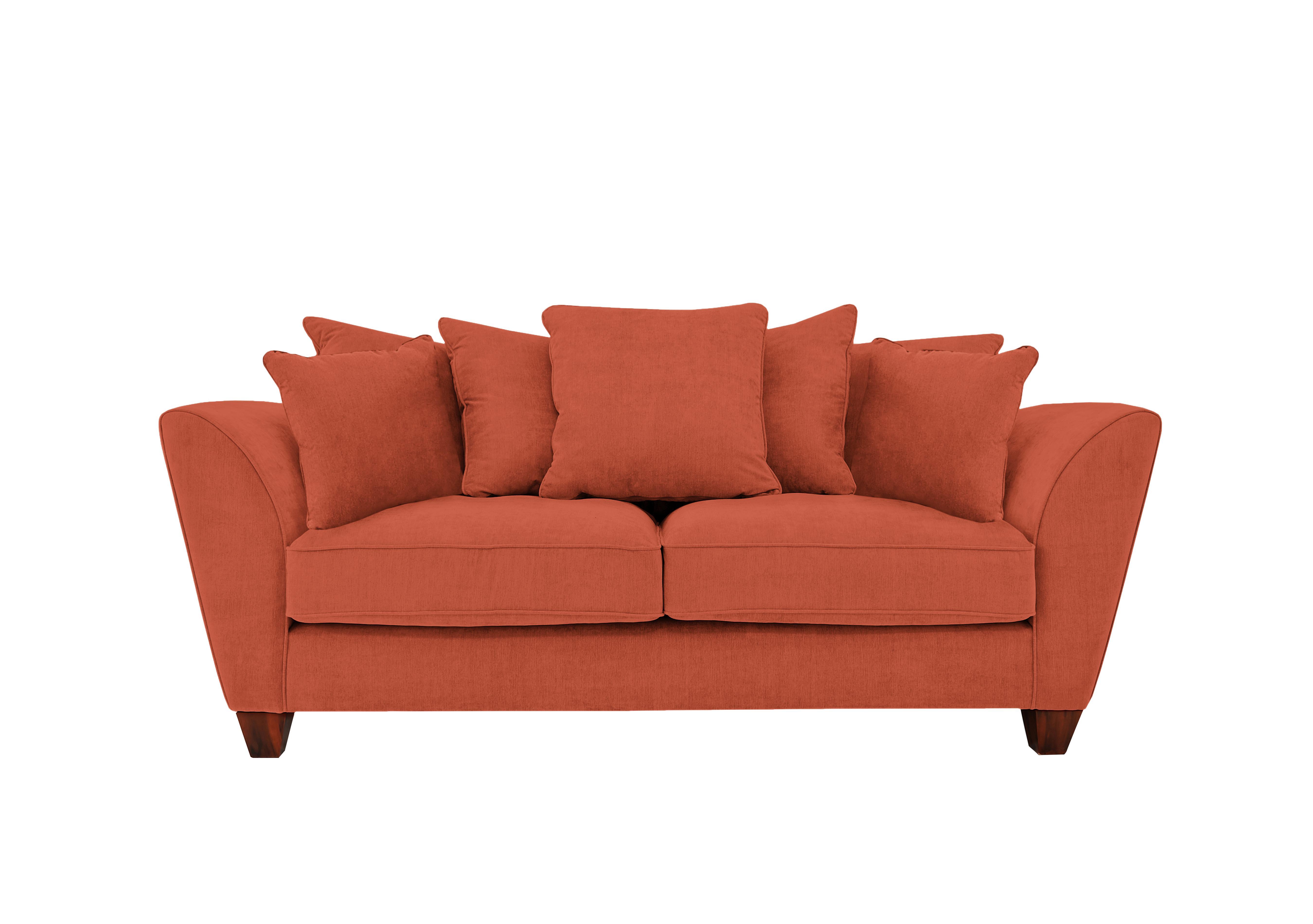 Marvelous Tangier 3 Seater Pillow Back Fabric Sofa