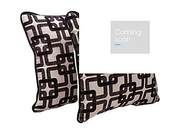 Tangier Pair of Scatter Cushions in Quadro Black on Furniture Village