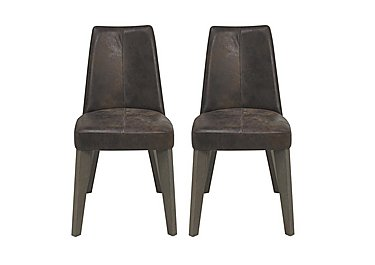 Cavendish Pair of Dining Chairs in Brown on Furniture Village
