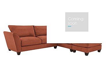 Tangier Fabric Corner Sofa in Cosmo Spice - Dark Feet on Furniture Village