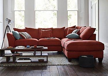 Tangier Pillow Back Fabric Corner Sofa