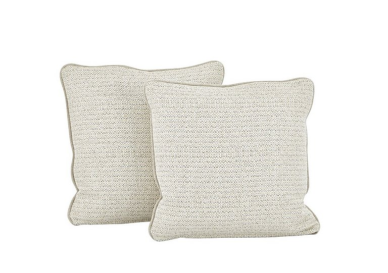 Esther Fabric Pair of Scatter Cushions in Esther Weave Ivory on Furniture Village