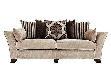 Annalise 4 Seater Fabric Sofa in Sherlock Pearl Dark Feet on Furniture Village
