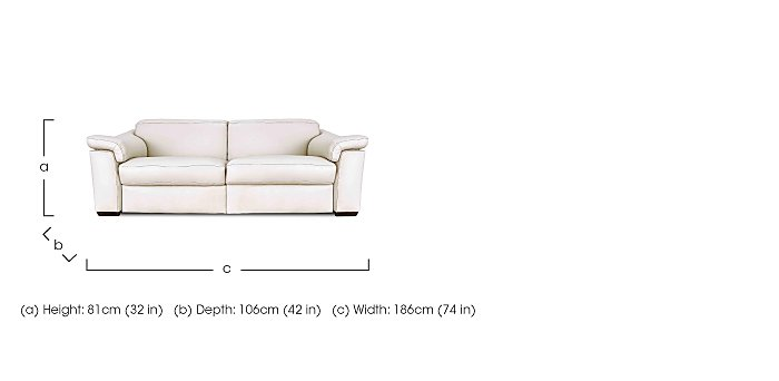 Sensor Leather 2 Seater Sofa - Only One Left! in  on Furniture Village