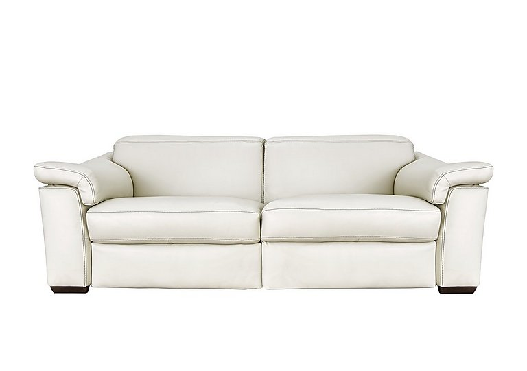 Sensor Leather 2 Seater Sofa - Only One Left! in Dream 20jh White on Furniture Village