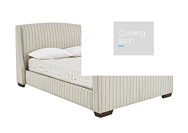 Cambridge Bed Frame in Wills Stripe Neutral on Furniture Village
