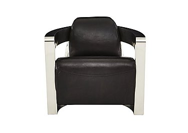 Hoxton Leather Armchair in Antique Black on Furniture Village